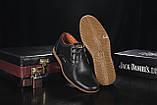 Подростковые туфли кожаные весна/осень черные Yuves Clas, фото 3