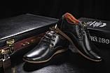 Подростковые туфли кожаные весна/осень черные Yuves Clas, фото 5