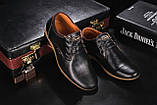 Подростковые туфли кожаные весна/осень черные Yuves Clas, фото 7