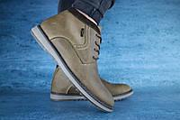 Мужские ботинки кожаные зимние оливковые Yuves 333, фото 1