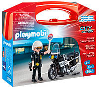 Игровой набор 5648 Полицейский на мотоцикле в кейсе конструктор