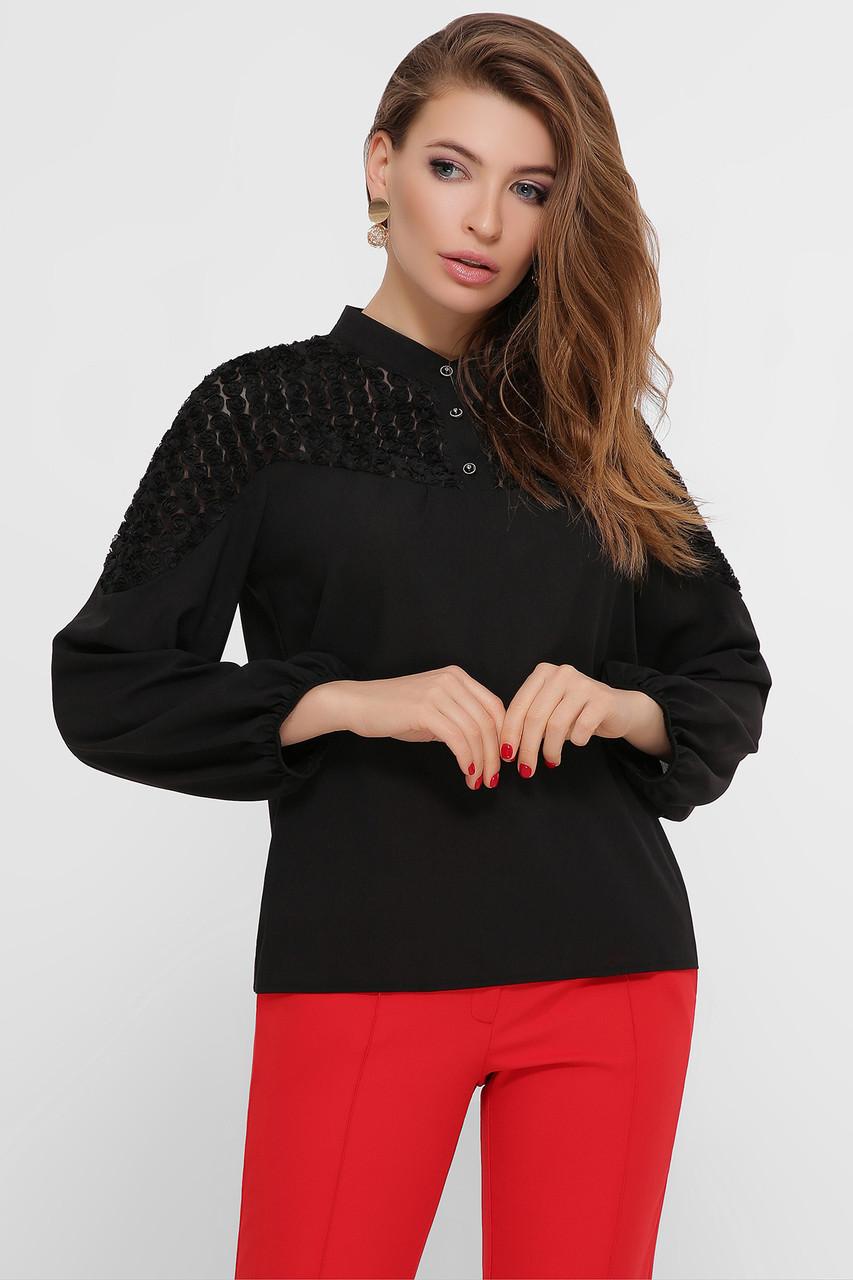 Стильна блуза з креп-шифону