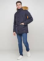 Мужская зимняя куртка Danstar KZ-108c темно-синий