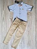Рубашка белая Burberry с коротким рукавом для мальчика, фото 2