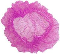 Шапочка одноразовая на резинке розовая 10 шт