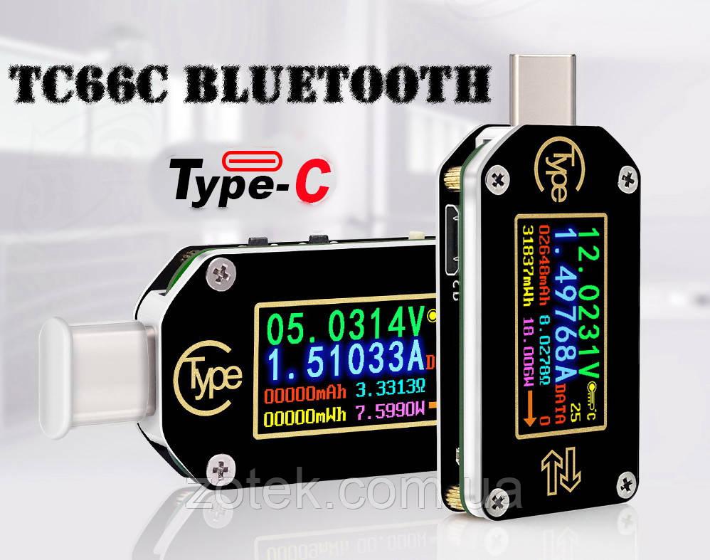 RIDEN TC66C USB тестер Bluetooth