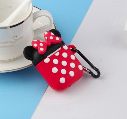 Мультяшный чехол IQEA Mickey Mouse #1 для наушников Apple AirPods TWS i10 Bluetooth Silicone Case