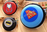 Силиконовый кошелек на змейке Супер-герои