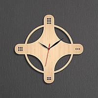 Деревянные часы Оригинальная форма часов Настенные деревянные часы Большие настенные часы Высота 35 см