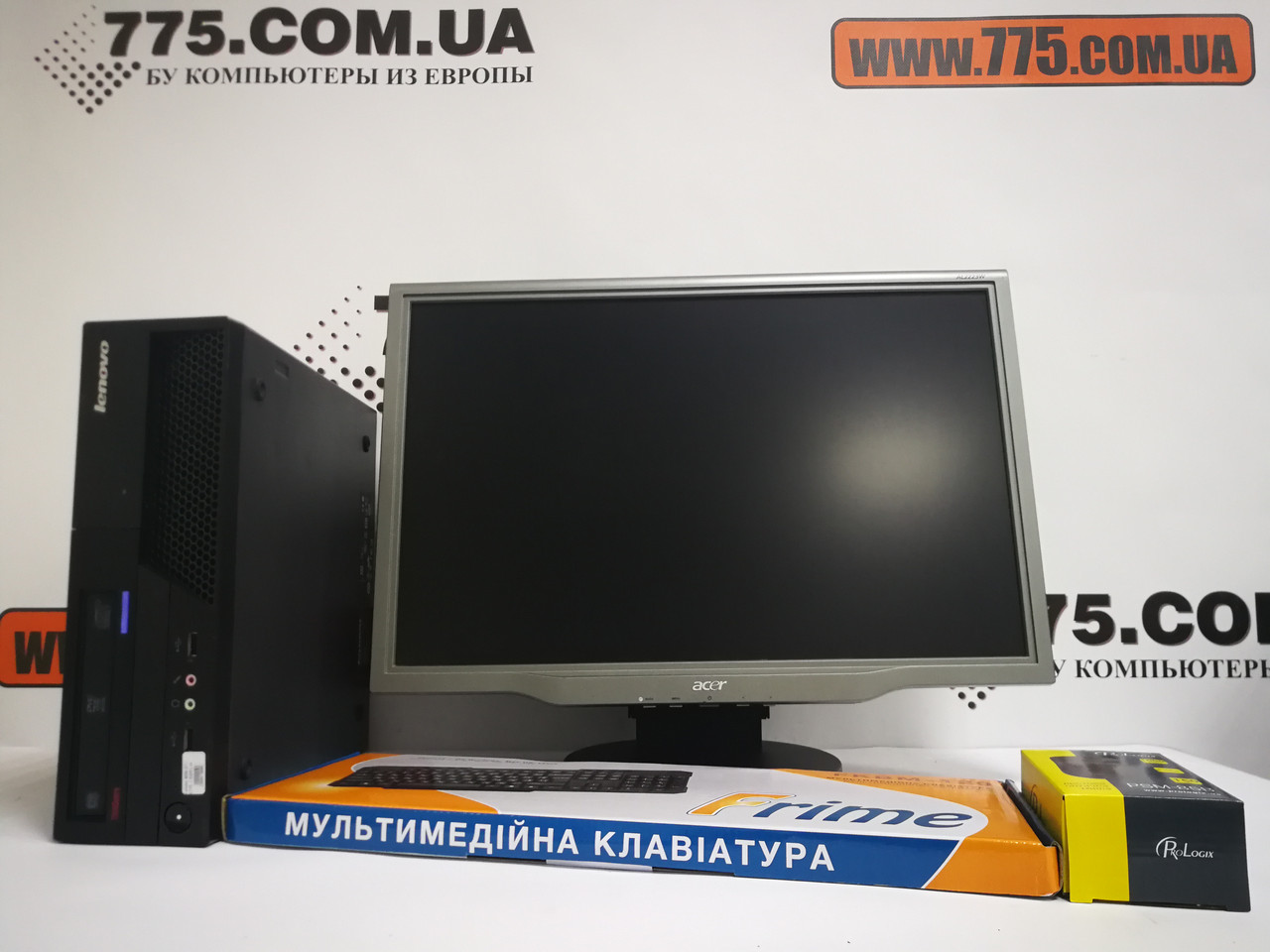 "Комплект, двухъядерный компьютер Intel 3.16ГГц + SSD, Монитор 22"" (1680х1050), клавиатура, мышь"