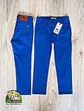 Яркий нарядный костюм для подростка: голубая рубашка Polo и брюки цвета электрик, фото 4
