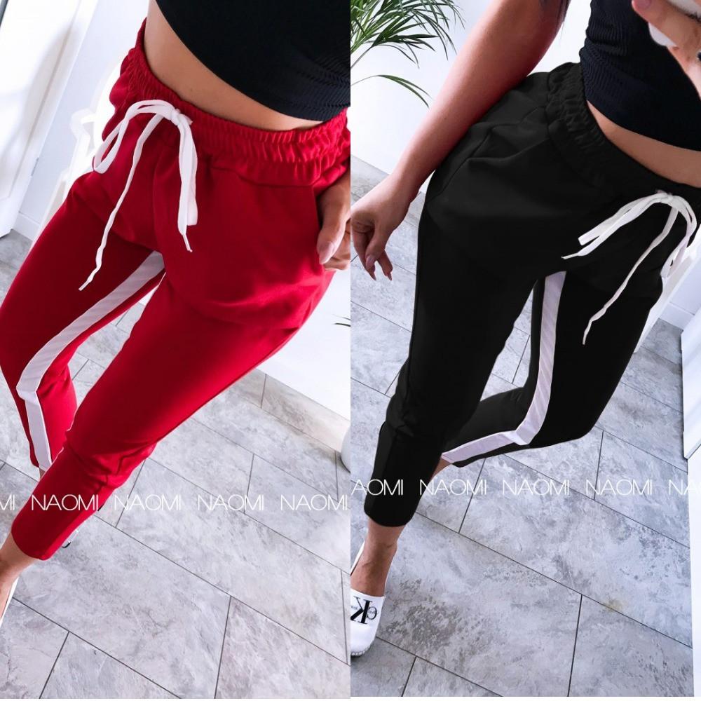Штаны женские спортивные, с лампасами, стильные, повседневные, модные, укороченые, до 48 р