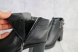 Женские ботинки кожаные зимние черные Sezar 35k, фото 5
