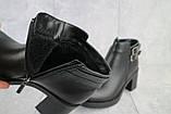 Женские ботинки кожаные зимние черные Sezar 35k, фото 6