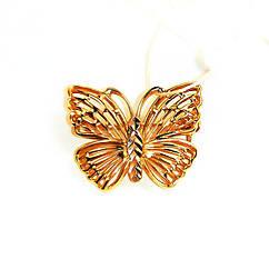 Золотая брошь Бабочка