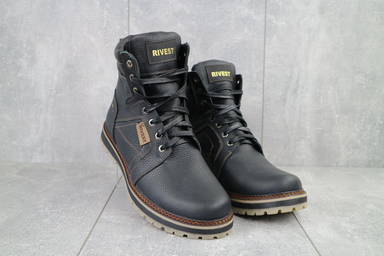 Мужские ботинки кожаные зимние черные Rivest 30