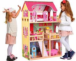Кукольный домик.Домик для кукол барби .Кукольный домик с мебелью для барби Eco Toys