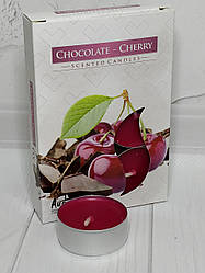 "Ароматические свечи-таблетки ""Шоколад-Вишня"" 6шт в наборе"
