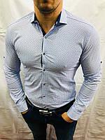 """Рубашка мужская с длинным рукавом, принт, размеры M-3XL (5 цв) """"A.ROSSI"""" купить недорого от прямого поставщика"""