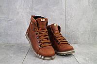 Мужские ботинки кожаные зимние рыжие CAT 101, фото 1