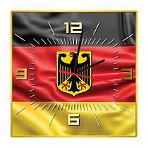 Часы настенные квадратные Флаг и герб Германии