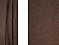 Портьерная ткань для штор Блэкаут-Лён коричневого цвета (Gloria HT RUSTIK-3/280 L Bl)