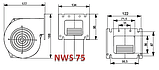 Вентилятор для твердотопливного котла Nowosolar NWS-75/Р (170м3/ч), фото 2