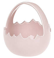Декоративная конфетница-корзинка, 11.5см, цвет - розовый 739-721, фото 1