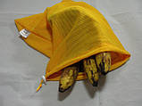Набор из 3-х многоразовых мешочков для продуктов желтый, фото 5