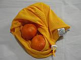 Набор из 3-х многоразовых мешочков для продуктов желтый, фото 3
