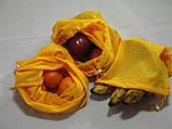 Набор из 3-х многоразовых мешочков для продуктов желтый, фото 4