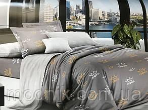 Двоспальне постільна білизна (сіре) - Корони