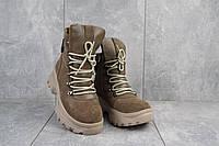Женские ботинки замшевые зимние бежевые Mkrafvt 1188, фото 1