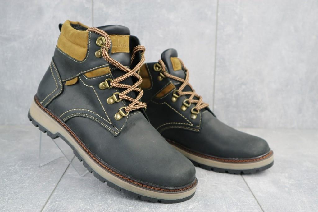 Мужские ботинки кожаные зимние черные Yuves Obr 11