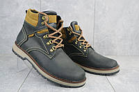 Мужские ботинки кожаные зимние черные Yuves Obr 11, фото 1