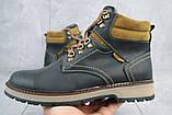 Чоловічі черевики шкіряні зимові чорні Yuves Obr 11, фото 3