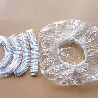 Шапочка полиэтиленовая на резинке прозрачная 100 шт., Polix