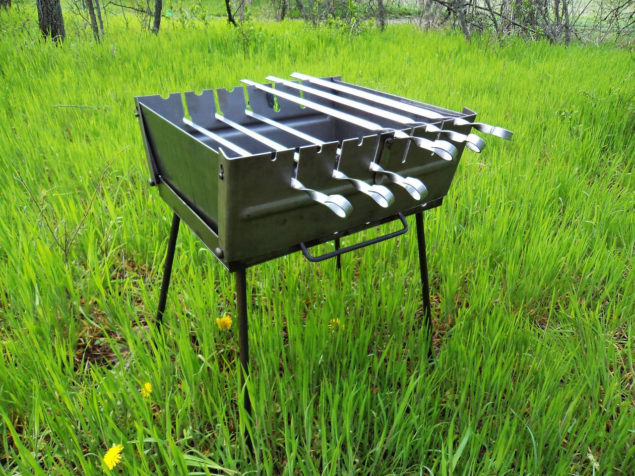 Мангал-чемодан BBQ на 6 шампуров (mk-3197)