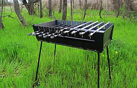 Мангал-чемодан BBQ на 10 шампуров (mk-3198)