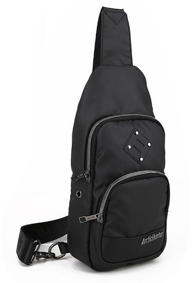Городская сумка-рюкзак Arctic Hunter XB00015 с одной лямкой через плечо и отверстием для наушников, 4л