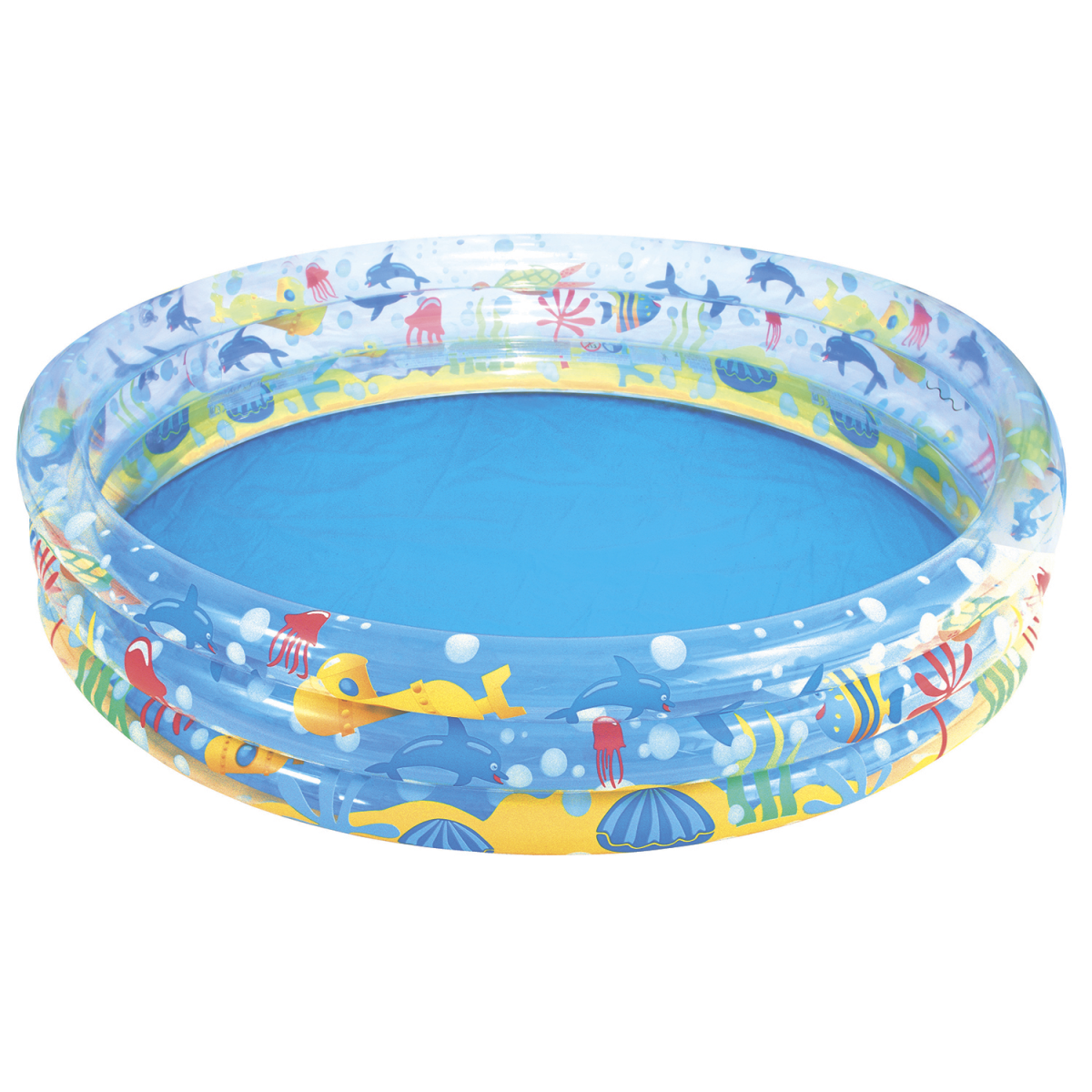 Детский надувной бассейн Bestway 51004 Подводный мир 152x30 см Голубой (RT-8678)