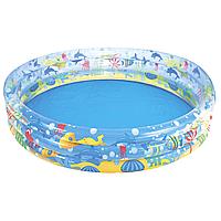 Детский надувной бассейн Bestway 51004 Подводный мир 152x30 см Голубой (RT-8678), фото 1