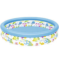 Детский надувной бассейн Bestway 51009 122 х 25 см Белый (RT-8679), фото 1