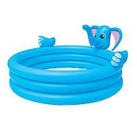 Детский надувной бассейн Bestway 53048 Слоник 152 х 152 х 74 см Голубой с фонтаном (RT-8685), фото 1
