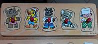 Деревянная рамка-вкладыш Зверята (от 18 мес.), фото 1