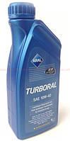 Моторное полусинтетическое масло ARAL (арал) Turboral 10W-40 1л