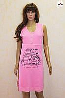 Ночная рубашка для беременных и кормящих мам розовая кулир 44-56р., фото 1