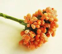 """Добавка """"сложные тычинки""""144 шт/уп. оранжевого цвета оптом, фото 1"""