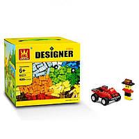 Детский блочный конструктор типа Лего Wan Ge с мелкими деталями, 625 предметов