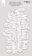 Ацетатные высеченные слова c фольгированием (White)